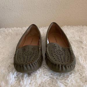 Lucky Brand Women's Olive Green loafers